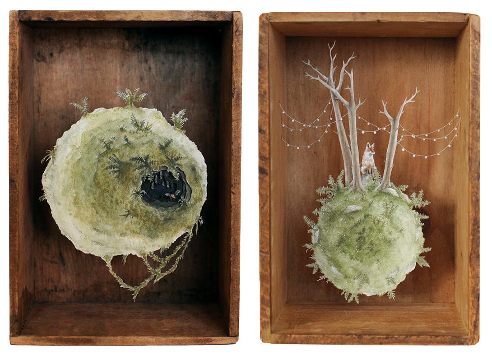 Антикварные коробки от Эллисон Мей Кипхат