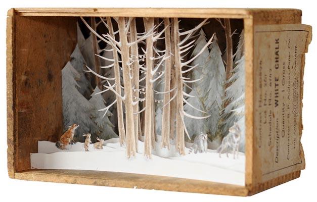 Сказочные антикварные коробки от Эллисон Мей Кипхат