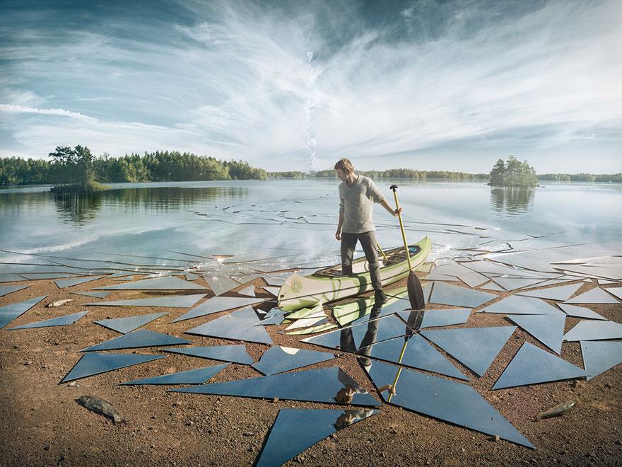Оптическая иллюзия от Эрика Йоханссона