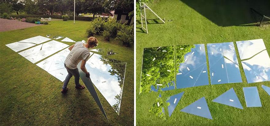 Процесс создания оптической иллюзии Эрика Йоханссона