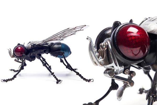 Изящные скульптуры животных и насекомых из запчастей от Эдуарда Мартинета