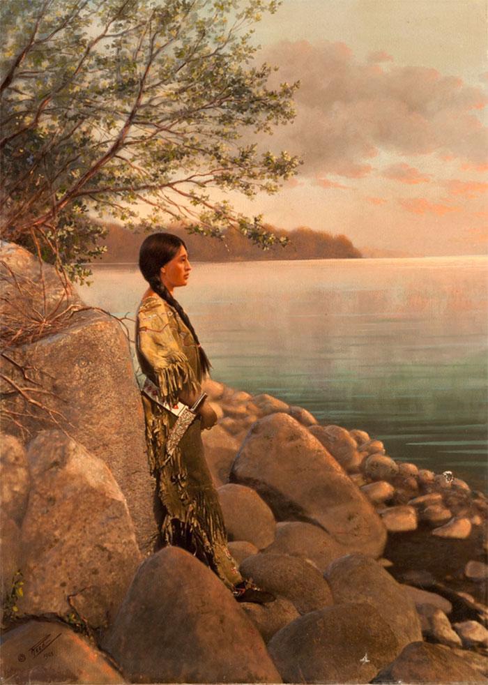 Цветные фотографии коренных американцев