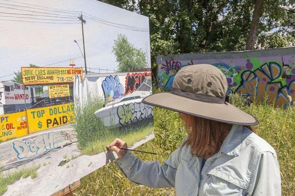 Красочная живопись неблагополучных американских районов от Валери Ларко