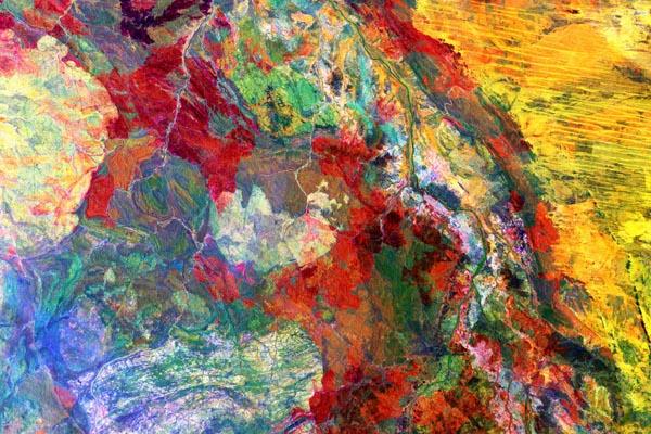 Спутниковые изображения Земли, которые выглядят как холст художника