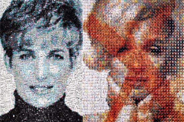 Крупномасштабные портреты знаменитостей из тысячи мелких объектов