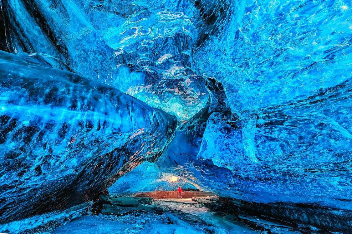 Ледяная пещера в Национальном парке Скафтафелль. Исландия