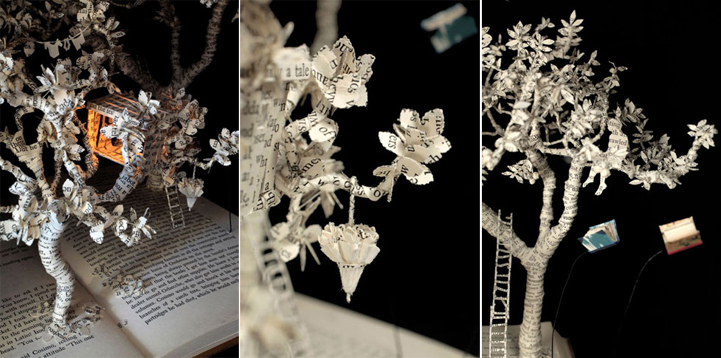 Скульптуры из книг от Сью Блеквелл