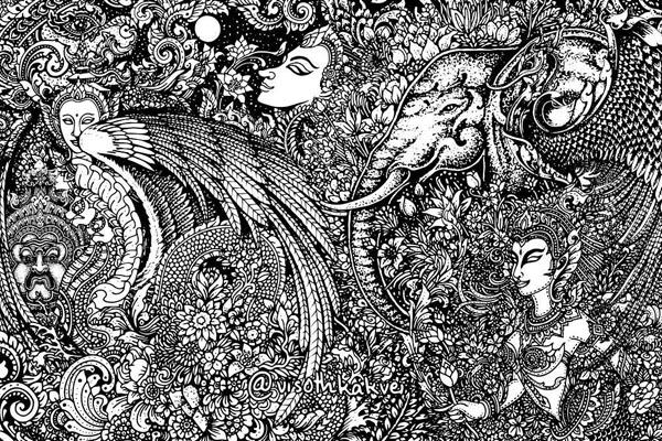 Гипнотические иллюстрации от Висота Каквея