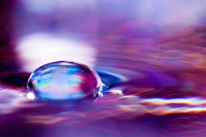 Макро-фотографии, капли воды, Шон Кнол, Shawn Knol