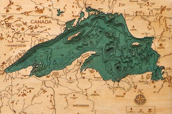 Мощь подводных глубин в тактильных картах от Робби и Кары Джонсонов