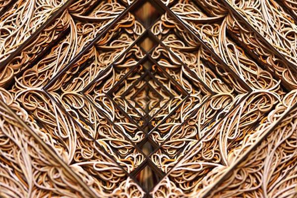 Роскошные композиции из бумаги от Эрика Стендли