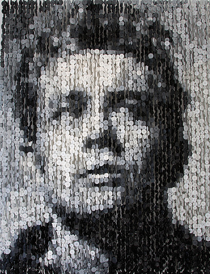 инсталляции из пуговиц, Агюсто Эскивель, Augusto Esquivel