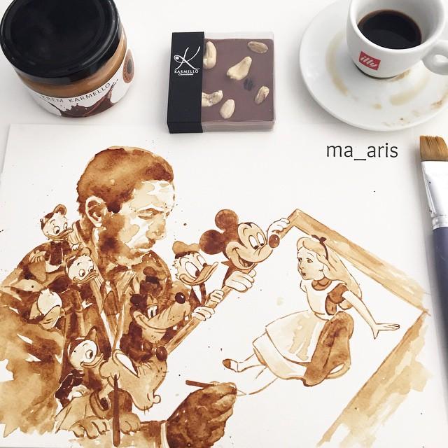 Кофейные иллюстрации от Марии Аристидоу (Maria Aristidou)