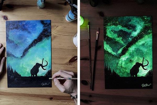 Картины, меняющие цвет, от Кристофоро Скорпинити