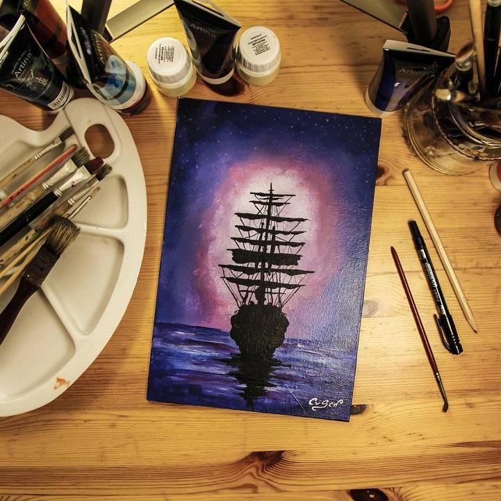Картины, меняющие цвет, Кристофоро Скорпинити, Cristoforo Scorpiniti