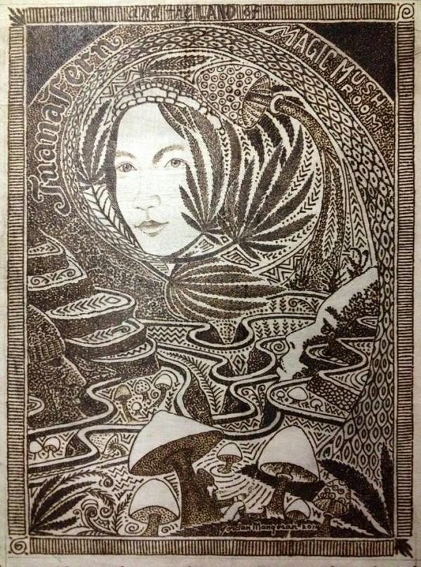 пирография, Джордан Манг-Осан, Jordan Mang-osan, солнце для создания картин