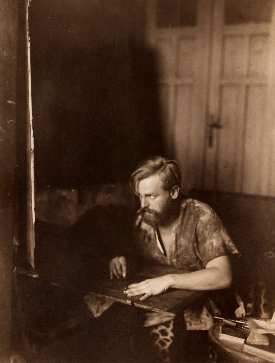 Рабочие места художников. Вильмош Аба-Новак