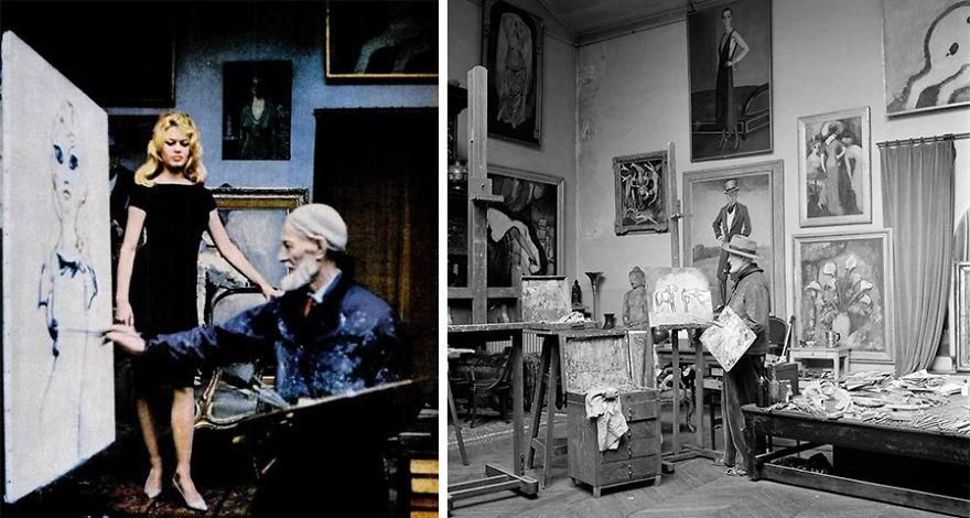 Рабочие места художников. Кес ван Донген