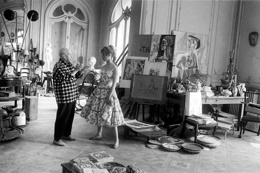 Рабочие места художников. Пабло Пикассо