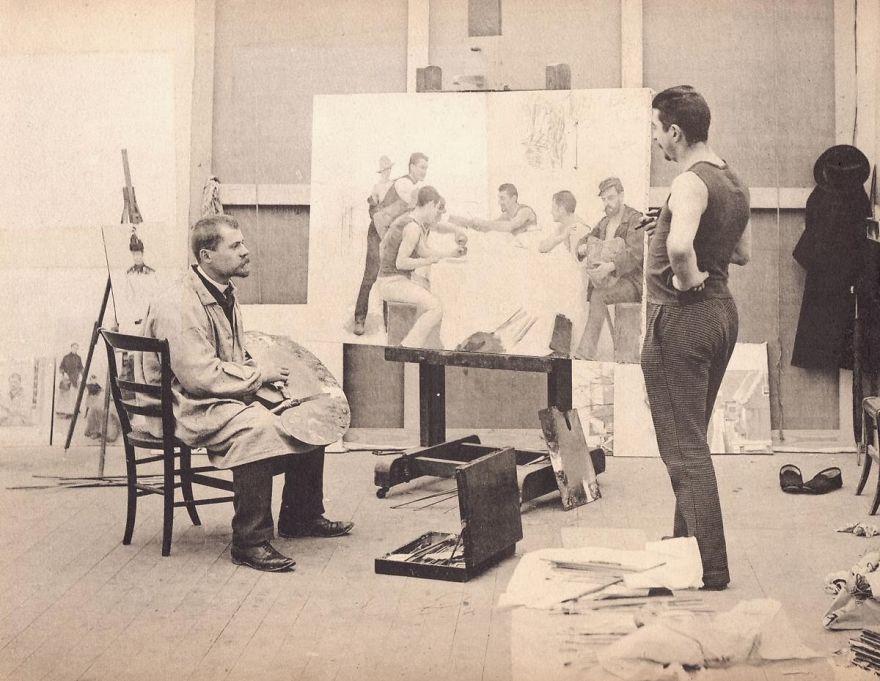 Рабочие места художников. Эмиль Фриан