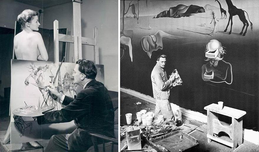 Рабочие места знаменитых художников.