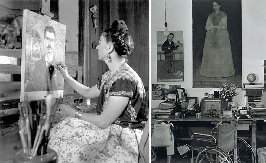 Рабочие места художников. Фрида Кало