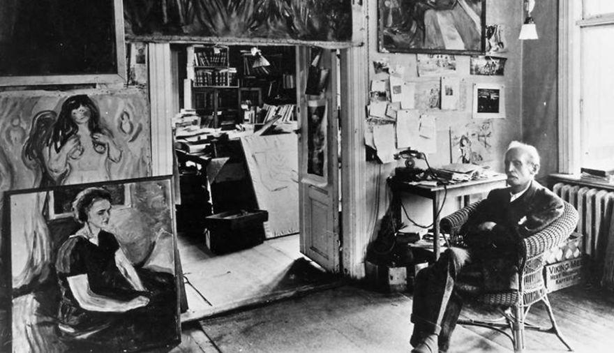 Рабочие места художников. Эдвард Мунк