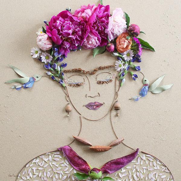 портреты из растений, Вики Роулинс, Vicki Rawlins