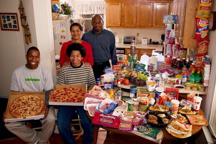 Что едят семьи в течение недели в различных странах мира