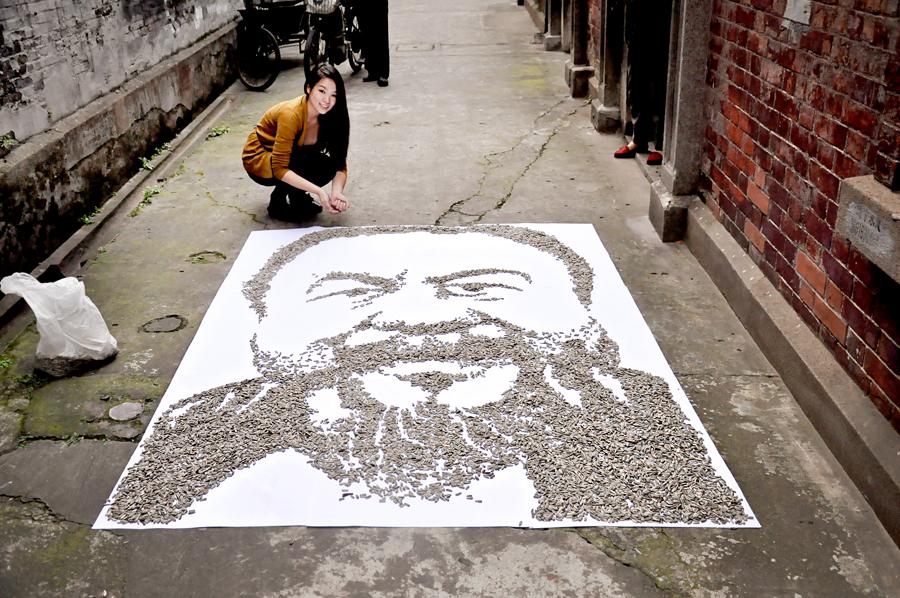портреты из повседневных материалов, Хонг Йи, Hong Yi