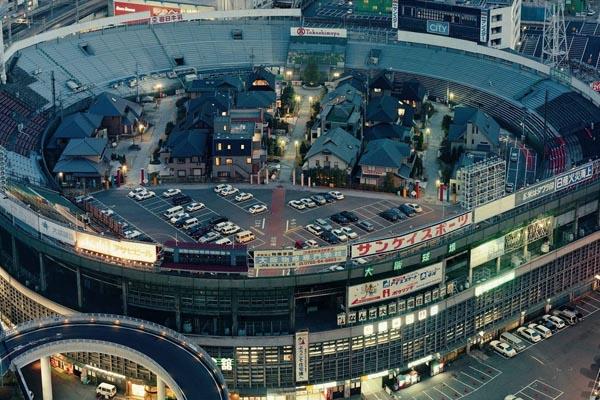 Жилой квартал на поле стадиона Redux в Японии