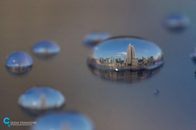 отражения в каплях воды, фотограф, Душан Стоянцевич, Dusan Stojancevic