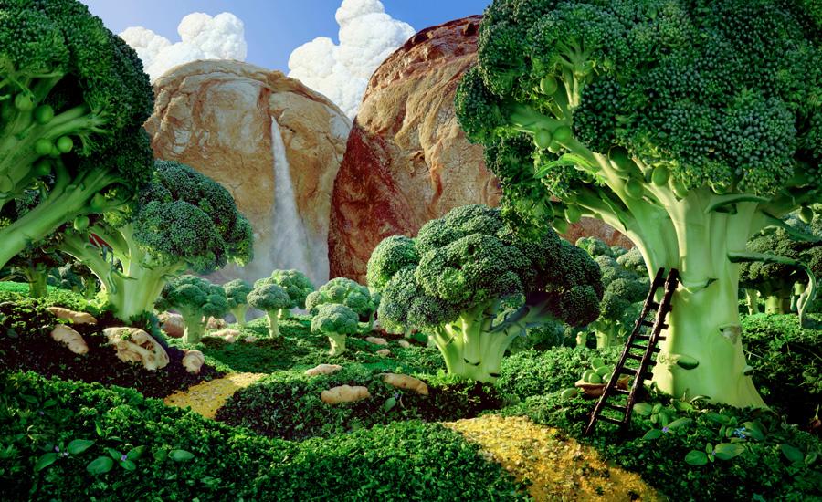 пейзажи из продуктов питания, Карл Уорнер, Carl Warner