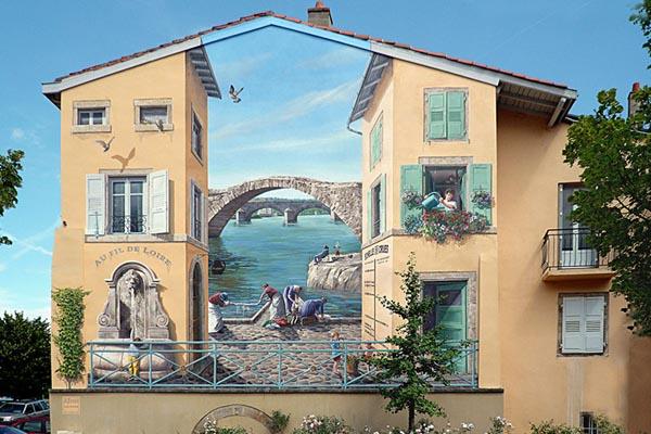 Неповторимые фрески на улицах Франции от Патрика Коммеси