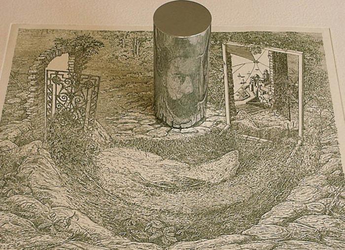 анаморфозные картины, Иштван Орос, István Orosz