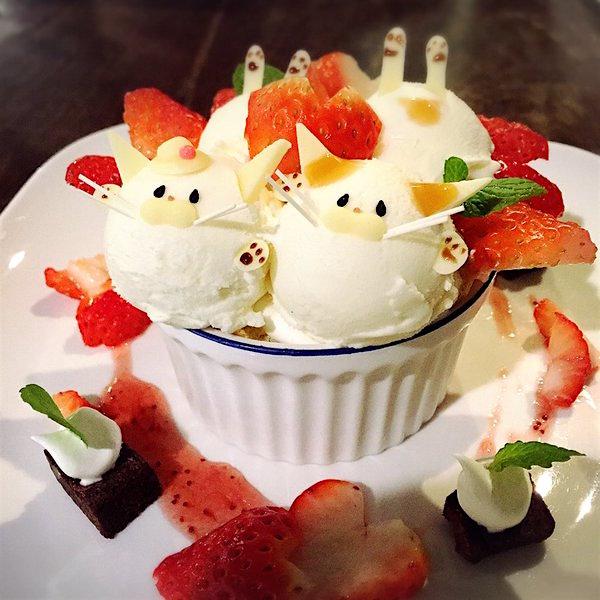 холодные десерты, парфе, японское кафе, Kotoba no Haoto