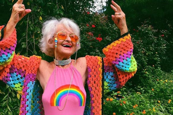 88-летняя женщина доказывает, что молодым можно быть в любом возрасте