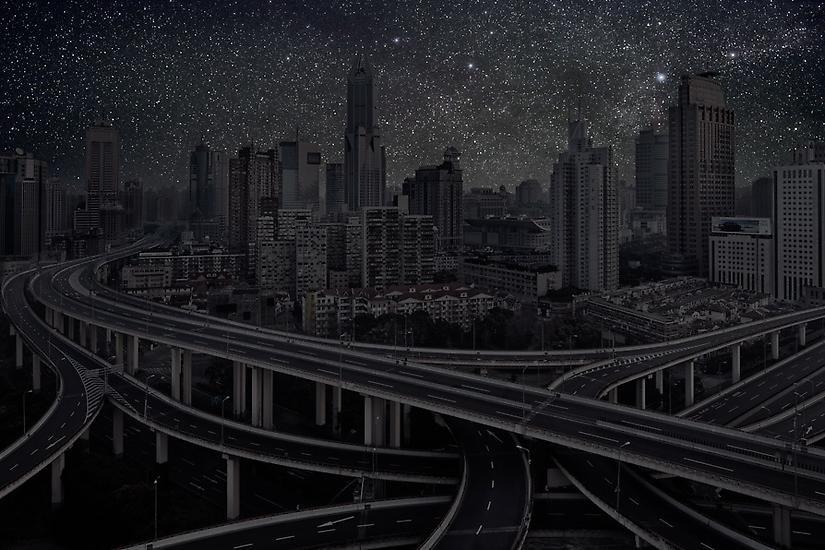 Города без света, световое загрязнение, фотограф, Терри Коэн, Thierry Cohen