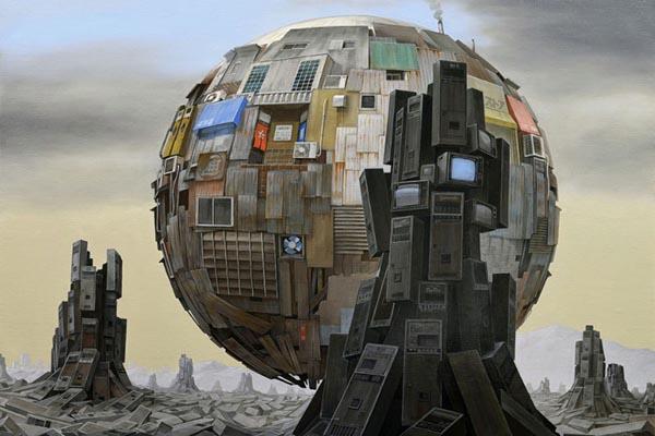 Постапокалиптические миры в картинах Масакатсу Саши