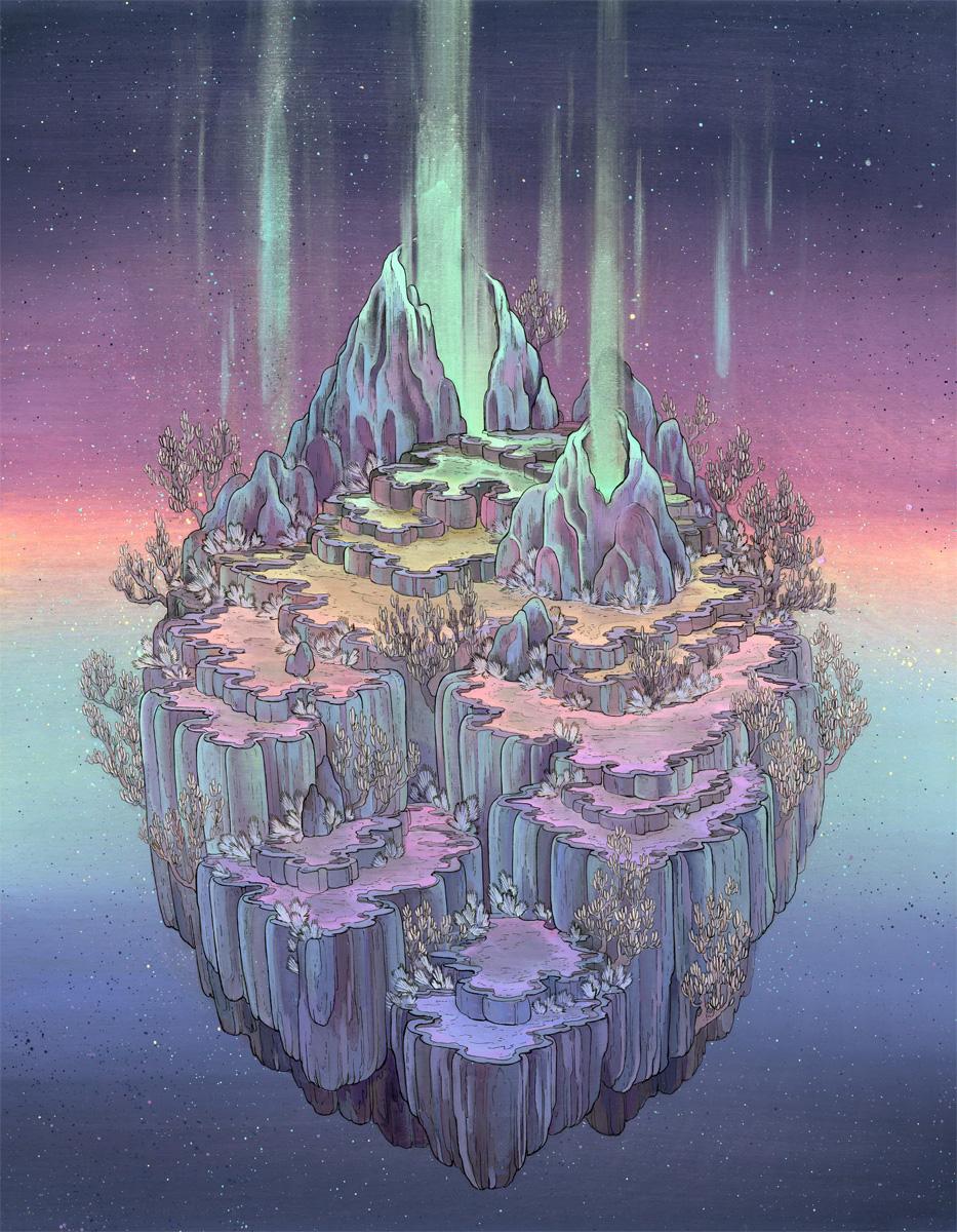 Вымышленные миры в картинах, Небесные пространства, Celestial Spaces, Николь Густафссон, Nicole Gustafsson