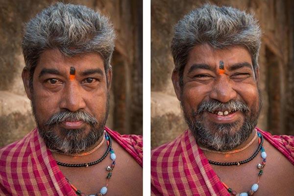 Эти фотографии показывают, как улыбка может изменить лицо незнакомца