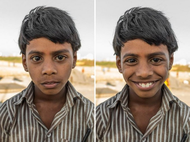 Как улыбка меняет лицо незнакомца, фотографии, Джей Вайнштейн, Jay Weinstein