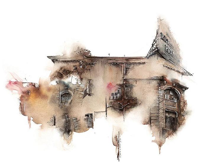 Акварельная живопись от Sunga Park