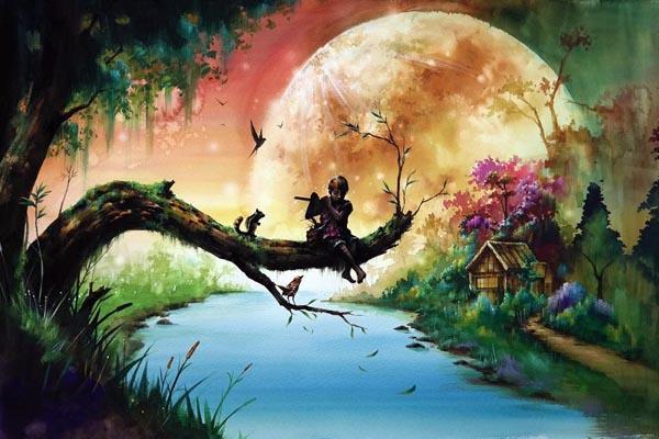 Сказочные картины от Зазака Намоо