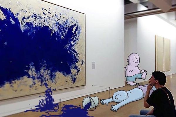 Художник меняет сюжет случайных фото из Instagram с помощью иллюстраций