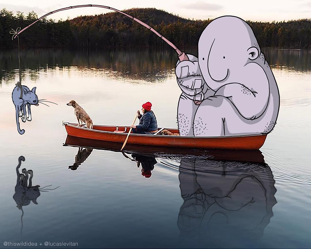 Забавные рисунки, Лукас Левитан, Lucas Levitan