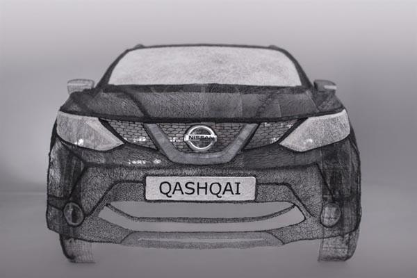 Студенты создали копию Nissan при помощи 3D ручки 3Doodler