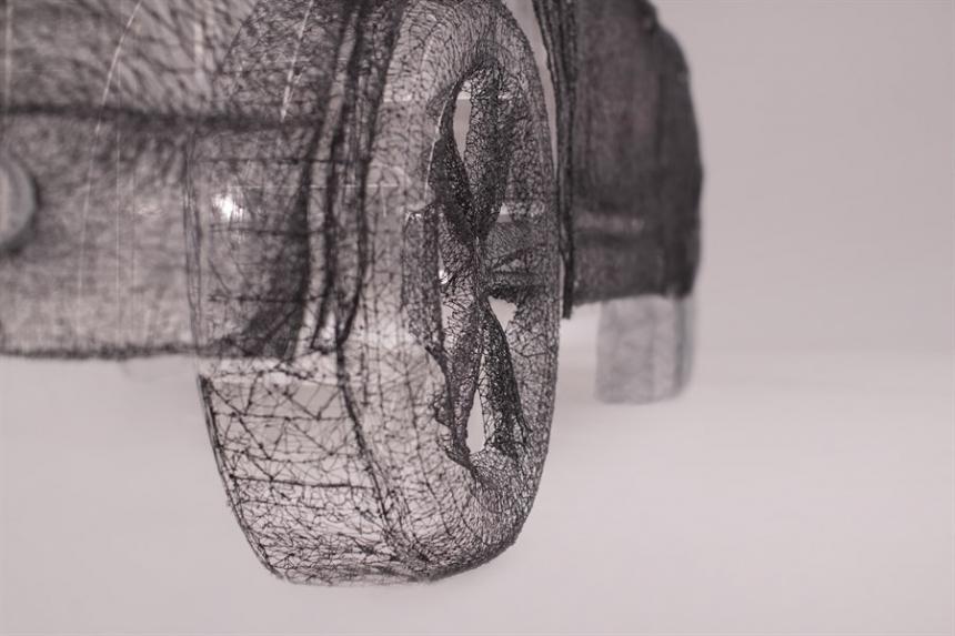 Скульптура 3D ручкой, 3Doodler, копия Nissan