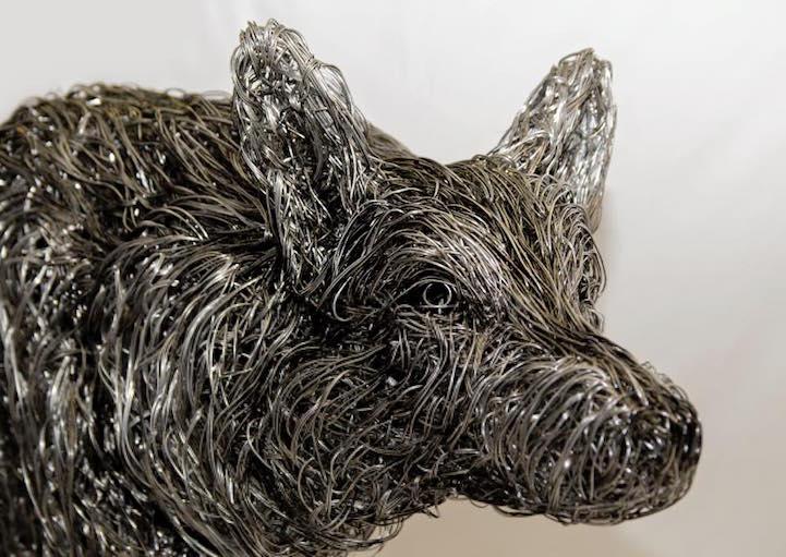 скульптуры из проволоки, Кэндис Бис, Candice Bees