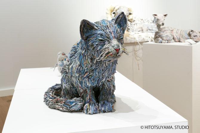 скульптуры из газет, Чие Хитотсуяма, Chie Hitotsuyam